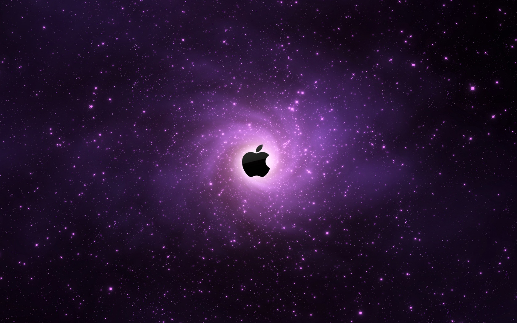 fond d 39 cran logo apple galaxie violette gratuit fonds cran logo apple galaxie violette. Black Bedroom Furniture Sets. Home Design Ideas